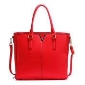 Gorgeous Red Split Design Tote Handbag | FREE UK DELIVERY | Save 50%