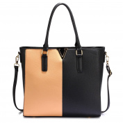 Gorgeous Black / Nude Split Design Tote Handbag | FREE UK DELIVERY | Save 50%