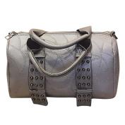 HCFKJ Women Retro Rivet Bag Shoulder Bag Travel Hiking Bags Tote Handbag Large