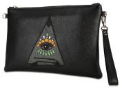 Malirona Women's Leather Evening Clutch Purse Wrislet Purse Crossbody Wallet M17019