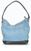 LiaTalia Single Handle Real Italian Suede Leather Medium Bucket Bag with Protective Storage Bag - Denise