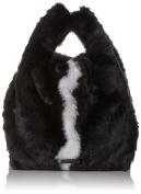 Kendall + Kylie Michelle Fur, Women's Wristlet, Schwarz (Black - White), 18x30x33 cm