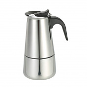 GuDoQi Stainless Steel Espresso Maker for Used on Gas or Electric Stove 300ml 6-Cup