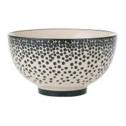 Bahne Bowl Ceramic Monochrome Dotty Design