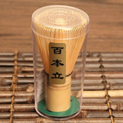 A-goo Bamboo Chasen Matcha Powder Whisk Tool Japanese Tea Ceremony Accessory 60-70/70-75/75-80 prongs - 75-80prongs