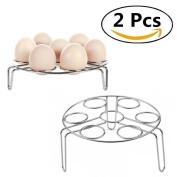 Egg Steamer Rack, Stainless Steel Egg Holder for Pressure Cooker, Egg Tray Steamed Egg Boiled Creative Oven Egg Pudding, Pressure Cooker Rack (Egg Steamer Rack)