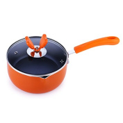 SDS-COM 18Cm Baby Milk Pot Pan Fried Egg Noodles With Lid Non-Stick Pan