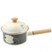 SDS-COM Thickened Enamel Milk Pot Enamel Saucepan Boiled Egg Pot