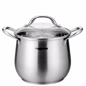 Simple 304 stainless steel pot pot, thickened nonstick pan,22*20 cm