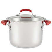 Rachael Ray Stainless Steel II 6.2l Cov Stockpot, Red Handle