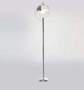 Adjustable Glass ball floor lamp Nordic Simple modern Iron study living room bedroom E27 * 1 white High 172cm Elegant