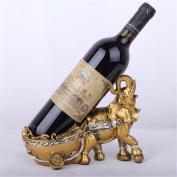 Madaye European elephant wine rack bar home decoration products 22*10.5*16cm