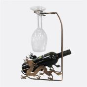 Madaye Creative wine rack European wrought iron wine cabinet display stand 24*10*36.5cm