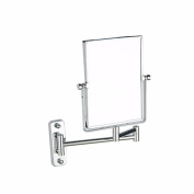 Toilet bathroom square mirror wall-mounted telescopic magnifying glass mirror bathroom double mirrors