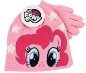 My Little Pony Pinkie Pie Pink Winter Beanie Hat & Gloves Childrens Official Set