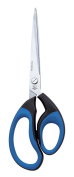 Wedo 98910 Stainless Steel Scissors 10 Inches Black and Blue 25.5 cm Rubber Handle Softcut