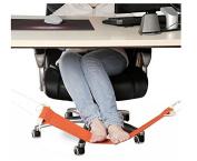 Kingwin Comfortale Feet Rest Hanging Hammock Under the Desk Adjustable Hammock For Feet - Orange