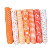 Uminilife 7Pcs Cotton Fabric For Sewing Needlework Curtains Dolls DIY Accessories