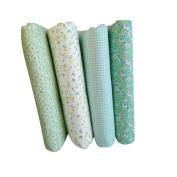 Uminilife 8Pcs Floral Fabric Patchwork DIY Sewing Cloths Craft