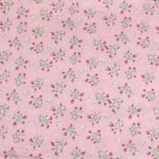 Pink Leading Brand 100% Cotton Fat Quarter FQ Quilting, Bunting, Craft Fabric FQ129C