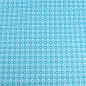 Blue Daisy Shapes Leading Brand 100% Cotton Fat Quarter FQ Quilting, Bunting, Craft Fabric FQ126C