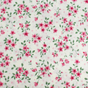 Red Flowers Leading Brand 100% Cotton Fat Quarter FQ Quilting, Bunting, Craft Fabric FQ132C