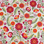 Floral Leading Brand 100% Cotton Fat Quarter FQ Quilting, Bunting, Craft Fabric FQ129B