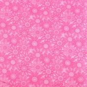 Pink Daisies Leading Brand 100% Cotton Fat Quarter FQ Quilting, Bunting, Craft Fabric FQ134D