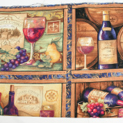 Wine Drink Shelves Leading Brand 100% Cotton Fat Quarter FQ Quilting, Bunting, Craft Fabric FQ171