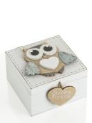 Mini Wooden Box with Owl Unique Variant