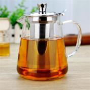 HZZymj-Flower pot temperature thickened bubble teapot stainless steel filter tea leak pot black tea teapot glass teapot , 1500ml