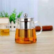 HZZymj-Flower pot temperature thickened teapot stainless steel filter tea leakage Quartet pot glass teapot , D