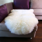 Dreamaker Fluffy Faux Fur Sheepskin Rug Chair Cover Seat Pad Home Carpet Floor Mat for Bedroom, Sofa, Living Room
