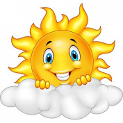Children's Stickers Self-Adhesive Stickers Child Sun Cloud Ref 15214 – Height 10 cm