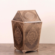 Sunny Dream Household Garbage, Creative Cover Bedroom Retro Wooden Trash Can Shake The Garbage In The Living Room,8 Cover