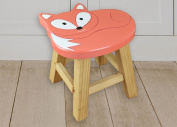 Children's Wooden Fox Stool