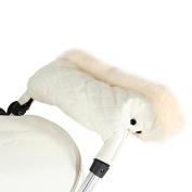 My Babiie Quilted Fur Trimmed Universal Pushchair/Stroller Handmuff - Cream