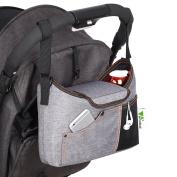 Amzdeal Stroller Organiser, Waterproof Stroller Storage, Pushchair Pram Bags With Mesh Bag Large Space For Mum