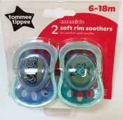 Tommee Tippee Essentials 2 Soft Rim Soothers 6-18m