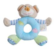 Albeey 1pcs Cartoon Animal Baby Hand Toys Plush Rattles Lathe Hanging Toys