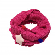 Bluelans Baby Boys Girls Soft Candy Colour Star Knitted Collar Winter Warm Scarf Neck Wrap