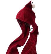 Smile YKK Kids Wool Multiple Use Headscarf Earflap Hood Scarf Hat