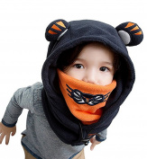 Smile YKK Children Baby Winter Ear Cap Hooded Head Tiger Neck Warm Hat