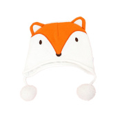 Infant Baby Cotton Ear Flap Cap Warm Thicken Soft Cartoon Animal Hat Toddler Kids Children Boys/Girls Headwear Autumn Winter Spring -Orange Fox