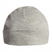 Qi 2 x Baby Beanie Hats Caps 100% Cotton 0-3, 3-6, 6-12 Months Unisex