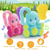 Baokee Baby safety Toddler Teether Hand Shake Bell Ring Funny Educational Elephant Toy