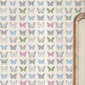 BUTTERFLY WALLPAPER Repeat Stencil for Nursery or Girls Bedroom - Wall Stencil for Painting