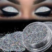 Eyeshadow Powder,VNEIRW Metallic Silver Sparkly Glitter Pro Makeup Cosmetic Eye Shadow Loose Pigment