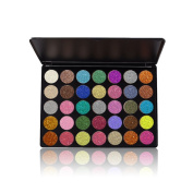 SHEMROW Pressed Glitter Eyeshadow Palette (35 Colours) - Highly Pigmented, Shimmery - Waterproof & Long-Lasting