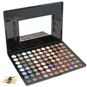 COM-FOUR ® Pro Makeup Eyeshadow Palette Eye Shadow 88 Colour of 7 Applicators